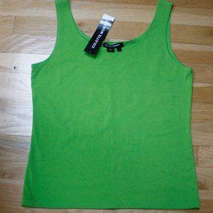 Colette Morodo Apple Green Ribbed Tank Size L